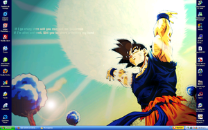 Goku Desktop by adic-winchis