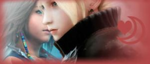 Yuna and Cloud - kissing by MissSwann
