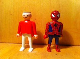 from Normal to Spierman Playmobil ^^ by urfer-art