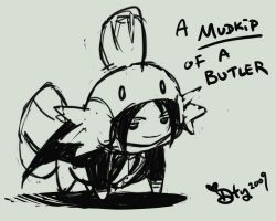 A mudkip of a Butler by zelas