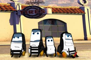 The Penguins Of Cars by ExtremePenguin
