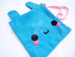 Blue Bunny Bag by CosmiCosmos