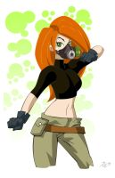 Kim Possible and her gas mask by Juliefan21