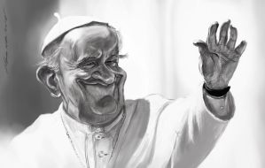 Pope Francis PS by nosoart