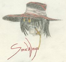 Alucard being naturally cool 2 by SonicWings