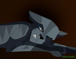 Jayfeather trying to sleep by spacepaws