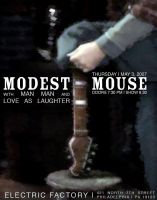 Modest Mouse Tour Poster by legobrickmaster