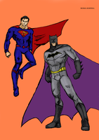 DC Rebirth Batman And Superman by Michael-McDonnell