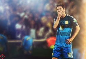 Messi Wallpaper by AboElkhairGfx