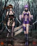 Collab- Ayane and Kasumi  Dark by Moemichan