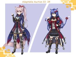 Adoptable Auction 33 and 34  (Closed) by chechoski