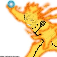 Naruto Rikudou Mode Rasengan by ThePolishFox