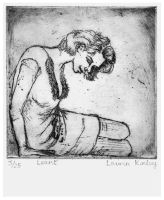 'Leant' Monotone : Etching by 60sGirl