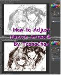 TutorTutorial - How to adjust Sketch Artwork by TashaChan