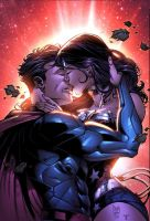 Superman and Wonderwoman by MARCIOABREU7