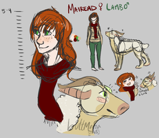mairead and lamb by buttmafia