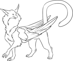 Gryphon lineart by soulwithin465