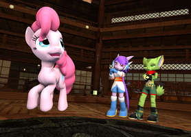 Pink horse visits Avalice by TBWinger92