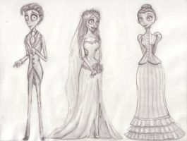 Corpse Bride Trio by B-Smitty