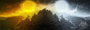 Two Trees of Valinor by beregond3019