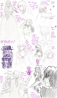Pandora Hearts sketchdump by KGX347