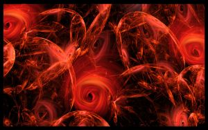 Fractal Rose Wallpaper by velocyra