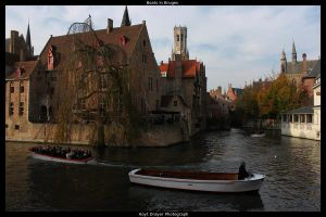 Boats in Bruges by HerrDrayer