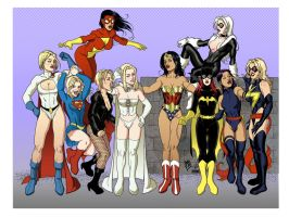 GirlsOfMarvelAndDC by Rick Mays by VPizarro626