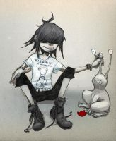 Noodle 20 / with The Daniel Johnston Frog by NoRiPiE