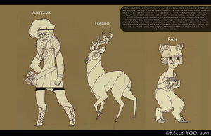 Greek Myth Character Design by monkeyoo