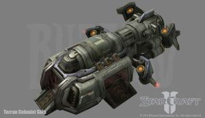 Starcraft 2: Colonist Ship by PhillGonzo