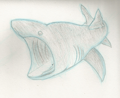 Basking Shark Pratice by TwilightAlicorn