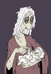 Baby Percy and Mama by batterypoweredpotato