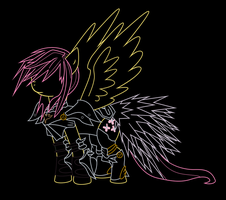 Fluttershy - Protector Of Celestia - Vector by gebos97531