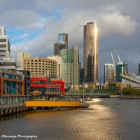 Melbourne River Sunset by Okavanga