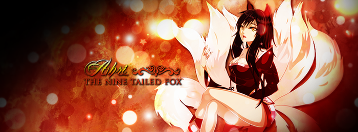 Ahri, the Nine Tailed Fox by flammaimperatore