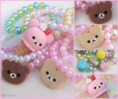 New Rilakkuma jewelry ^u^ by decoland