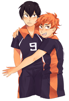 kageyama and hinata by cakey-face