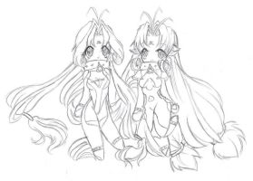 Dears - Ren and Miu chibis by XxBlind-CreationxX