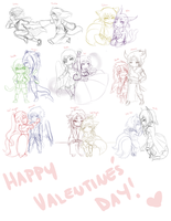 Valentine's Shippings by Emi-Ane