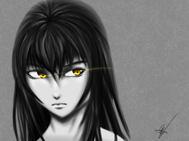 Yellow Eyes by xKiiro-me