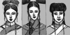 The Three Wives of Wu Ren WIP 1 by Xadrea