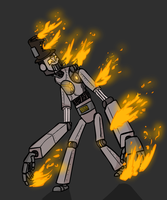 The Nuclear Robot (Colored) by Number9Robotic