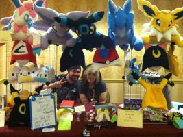 PokeCon Artist Alley Booth 2013 by PakajunaTufty