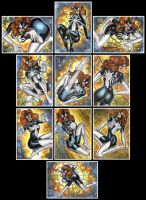 SPIDER WOMAN ARACHNE SKETCH CARDS by AHochrein2010