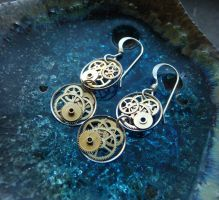 Steampunk Gearrings Iota by AMechanicalMind