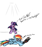NATG: Pony With Prop - RD and Twilight by TheRebelPhoenix
