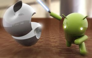 Wallpaper Apple Vs Android by anhnamcrken231