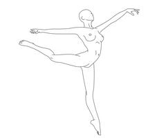 Dancing Pose Female 06 by Death-Tendency