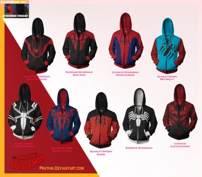 All my Spiderman hoodies! by prathik